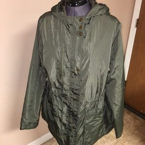 Forever 21 green hooded jacket plus size 1X